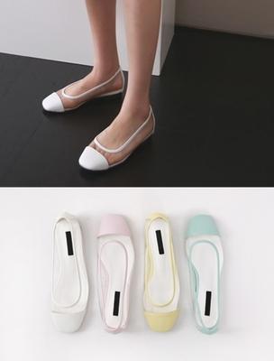 1区韩国本土服装代购(韩国圆通直发)ssumj-韩版时尚透明平底鞋(2018-07-09上架)