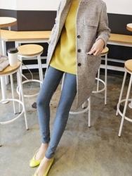 1区韩国代购正品验证ssunny-SYCT00831399-高档保暖西装领毛呢大衣