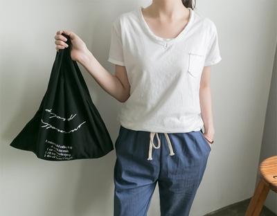 1区韩国本土服装代购(韩国圆通直发)ssunny-韩版纯色时尚T恤(2018-04-24上架)