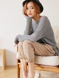 1区韩国代购正品验证styleberry-SBKN00766266-流行魅力韩版纯色针织衫