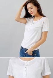1区春装韩国代购|服装代理一件代发styleberry官网韩国圆领短袖纯色T恤(2016.4底)