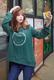 1区韩装网2016韩国服装货源|女装一件代发styleberry官网韩国韩版笑脸设计魅力T恤(2016.9)