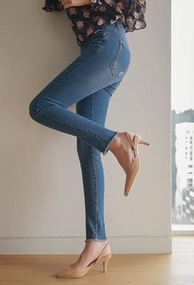1区韩国本土服装代购(韩国圆通直发)styleberry-时尚百搭牛仔铅笔裤(2018-04-24上架)