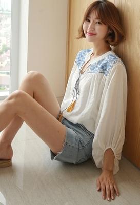 1区韩国本土服装代购(韩国圆通直发)styleberry-时尚舒适配色衬衫(2018-07-10上架)