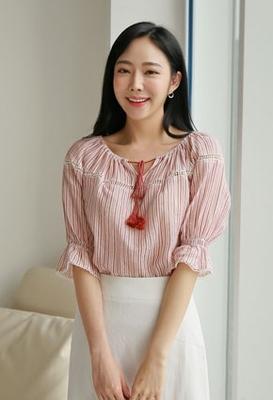 1区韩国本土服装代购(韩国圆通直发)styleberry-时尚百搭条纹衬衫(2018-07-12上架)