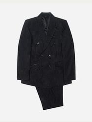 1区2017冬季新款韩国服装stylehomme品牌时尚条纹西服套装(2017.12月)