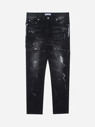 1区2017冬季新款韩国服装stylehomme品牌时尚流行破损牛仔裤(2017.12月)