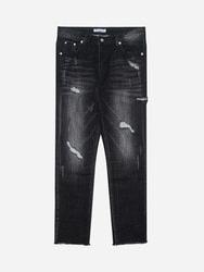 1区2017冬季新款韩国服装stylehomme品牌时尚魅力破损牛仔裤(2017.12月)