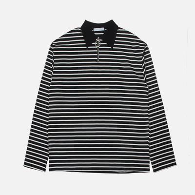 1区韩国本土服装代购(韩国圆通直发)stylehomme-时尚风格条纹T恤(2018-04-20上架)