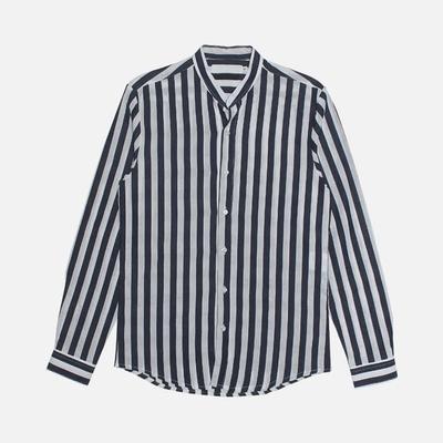 1区韩国本土服装代购(韩国圆通直发)stylehomme-时尚流行条纹衬衫(2018-07-05上架)