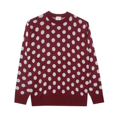 1区韩国本土服装代购(韩国圆通直发)stylehomme-时尚流行圆点针织衫(2018-04-14上架)