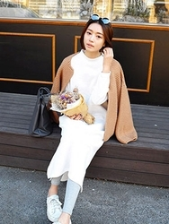 1区韩国代购正品验证stylenanda-SNOP00832972-韩版舒适百搭长款连衣裙