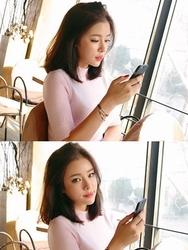 1区韩国代购正品验证stylenanda-SNKN00849263-韩版半高领纯色淑女针织衫
