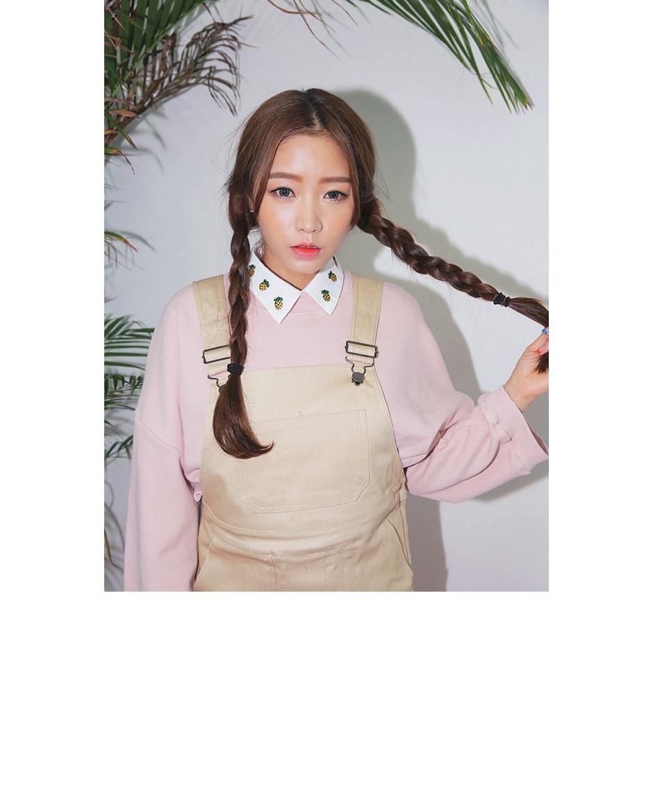 stylenanda-可爱菠萝刺绣领子