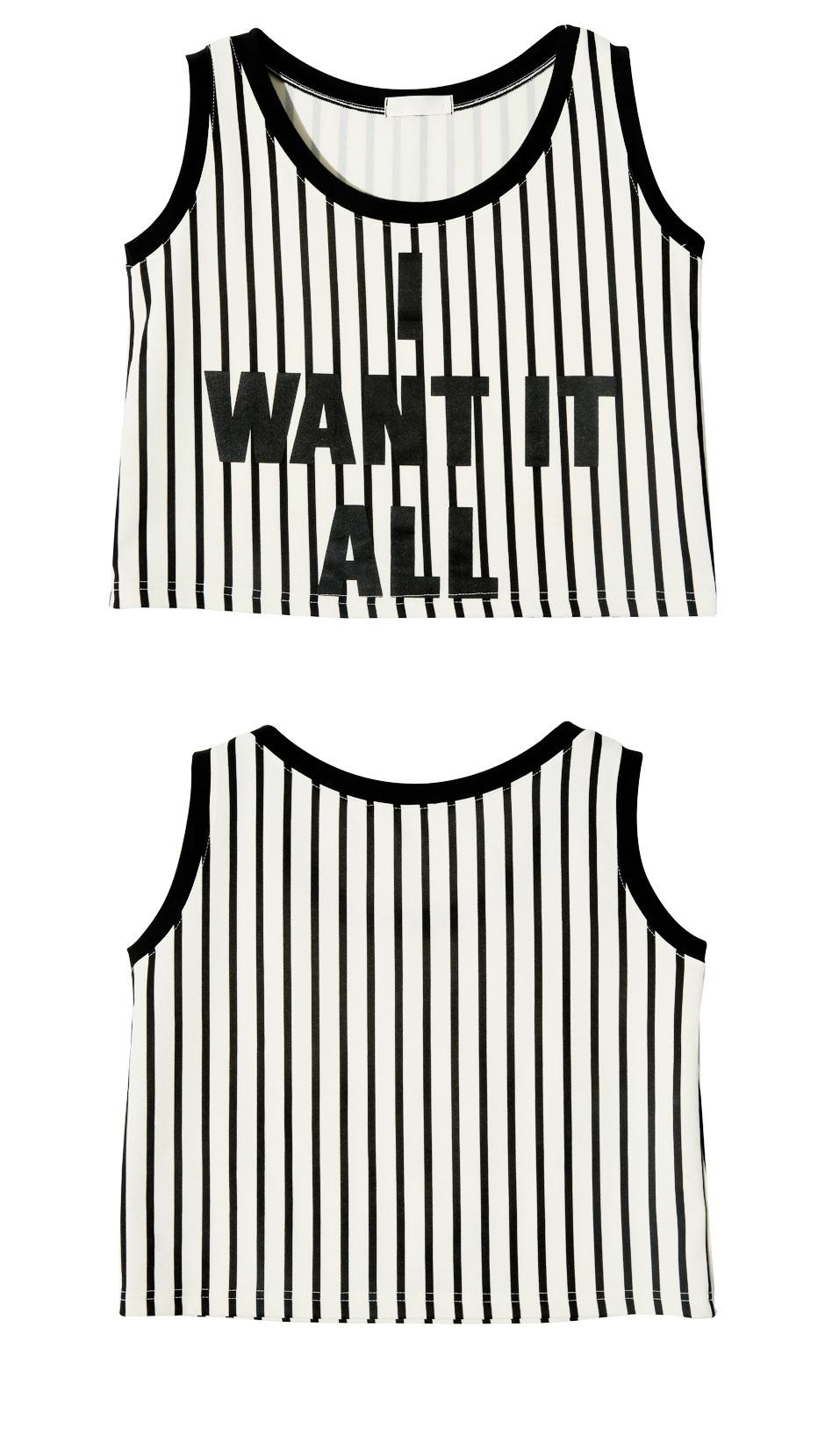 stylenanda-snbx00886296-时尚英文字母竖条纹背心