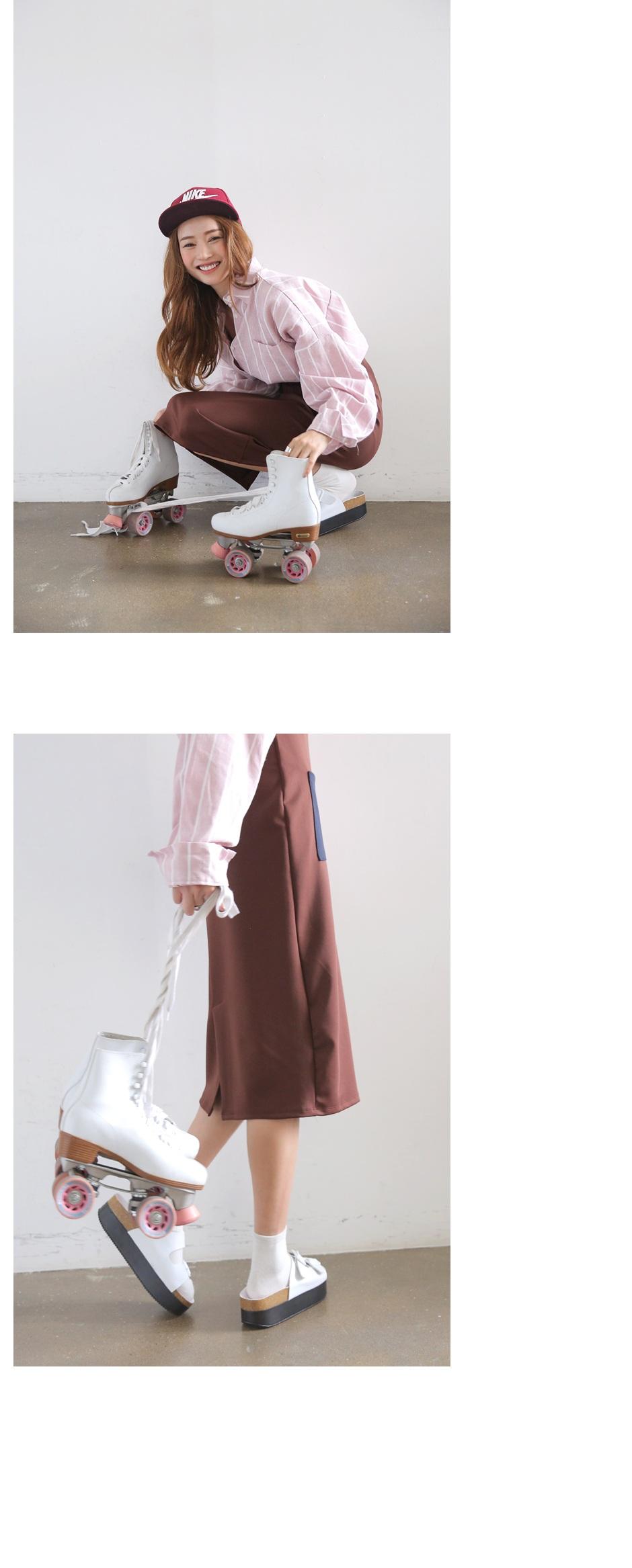 stylenanda-时髦风尚可爱配色口袋长裙(制作商品)-05