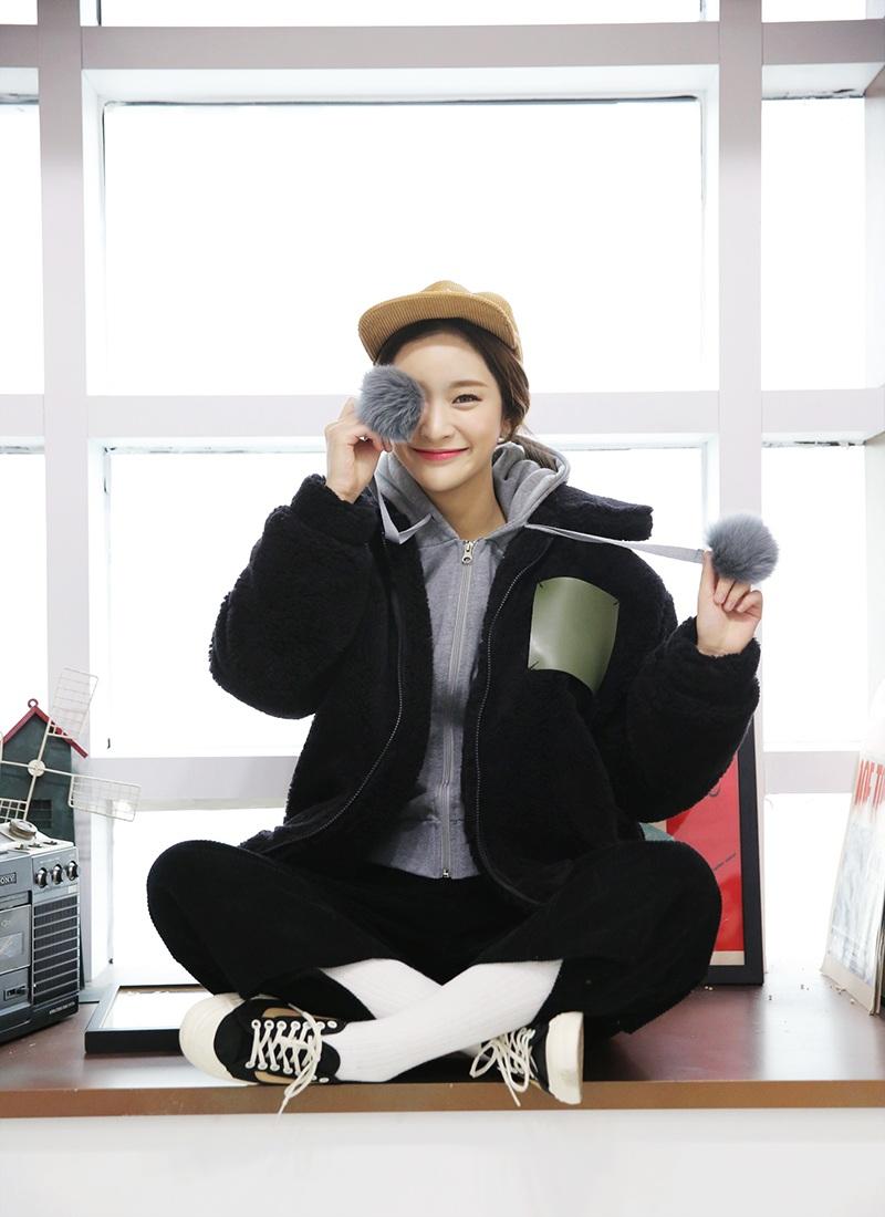 �Np_1区韩国代购 网店代理女装stylenanda-snlp00974155-休闲高腰灯芯绒阔