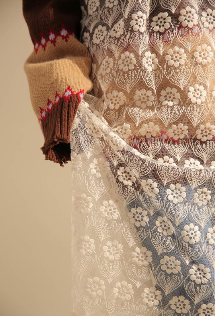网站首页 韩国女装 连衣裙/裙子 连衣裙 stylenanda-韩国蕾丝透明花纹