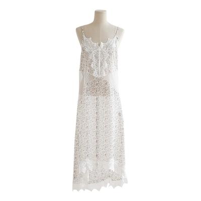 stylenanda-性感透明蕾丝长款连衣裙