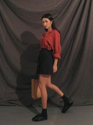 stylenanda-韩国夏季时尚纯色韩国代购正品短裙女装2017年07月28日夏季款