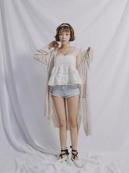stylenanda-韩国高档时尚长款韩国服装代购开襟衫女装2017年08月01日08月款