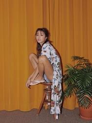 stylenanda-韩国时尚迷人花纹韩国服装代购开襟衫女装2017年08月02日08月款