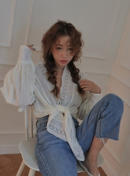 stylenanda-韩国百搭时尚纯色雪纺衫女装2017年08月07日08月款
