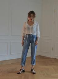 stylenanda-韩国夏季休闲女士韩国代购牛仔裤女装2017年08月07日08月款