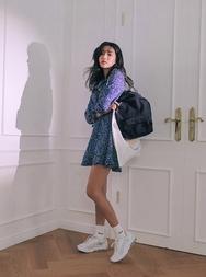 stylenanda-韩国时尚魅力花纹韩国代购正品连衣裙女装2017年08月09日08月款