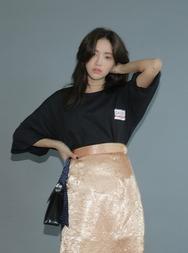 stylenanda-韩国韩版魅力圆领韩国代购T恤女装2017年08月14日08月款