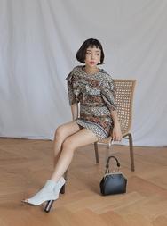stylenanda-韩国百搭魅力花纹韩国代购正品连衣裙女装2017年08月14日08月款