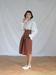stylenanda-韩国魅力时尚纯色韩国代购中裙女装2017年08月14日08月款