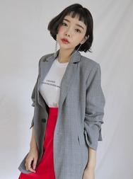 stylenanda-韩国日常休闲格纹韩国代购官网夹克女装2017年08月14日08月款