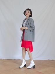 stylenanda-韩国时尚百搭纯色韩国代购中裙女装2017年08月14日08月款