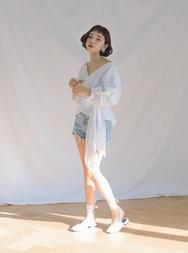 stylenanda-韩国时尚裁剪牛仔韩国代购短裤女装2017年08月14日08月款