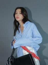 stylenanda-韩国夏季魅力纯色韩国代购正品衬衫女装2017年08月14日08月款