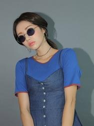 stylenanda-韩国百搭魅力圆领韩国代购T恤女装2017年08月14日08月款