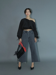 stylenanda-韩国休闲时尚阔腿韩国代购牛仔裤女装2017年08月14日08月款