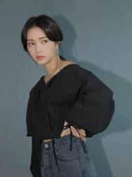 stylenanda-韩国时尚迷人纯色雪纺衫女装2017年08月14日08月款