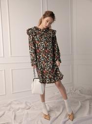 stylenanda-韩国魅力时尚花纹韩国代购正品连衣裙女装2017年08月14日08月款