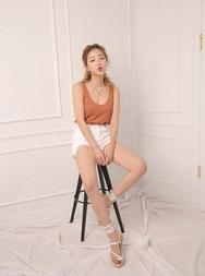 stylenanda-韩国魅力时尚纯色韩国代购吊带女装2017年08月14日08月款