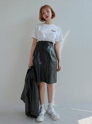 1区2017冬季新款韩国服装stylenanda品牌充满魅力纯色中裙(制作商品)(2017.11月)