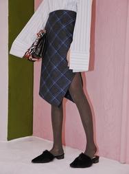 1区2017冬季新款韩国服装stylenanda品牌秋季魅力格纹中裙(制作商品)(2017.11月)