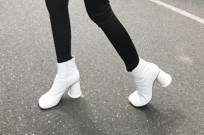 1区韩国本土服装代购(韩国圆通直发)stylenanda-休闲舒适纯色短筒靴(手工鞋)(2018-04-14上架)