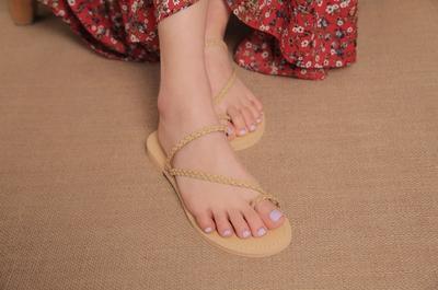 1区韩国本土服装代购(韩国圆通直发)stylenanda-休闲舒适配色拖鞋(2018-04-24上架)