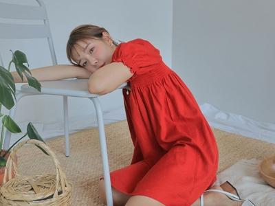 1区韩国本土服装代购(韩国圆通直发)stylenanda-时尚优雅纯色连衣裙(2018-05-09上架)