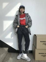 2018新款韩国服装stylenanda品牌魅力百搭纯色棉服(2018.1月)