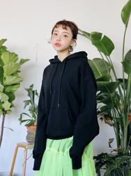 2018新款韩国服装stylenanda品牌休闲纯色连帽卫衣(2018.1月)