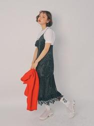 2018新款韩国服装stylenanda品牌清新点点蕾丝边连衣裙(2018.1月)