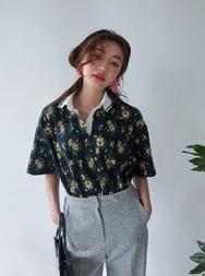 2018新款韩国服装stylenanda品牌复古碎花短袖T恤(2018.1月)